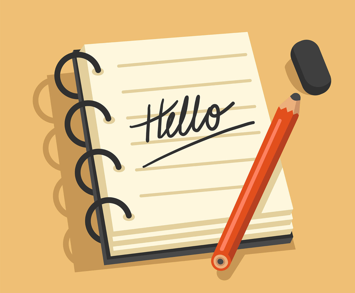 Hello Handwriting Vector