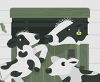 Holstein Calf Vector