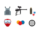 Paintball Flat Icon