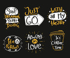 Handwriting Collection On Black Vector