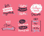 Handwriting On Pink Vector