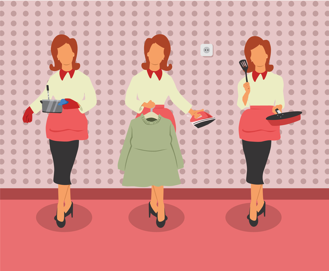 Housewife Activities Vector