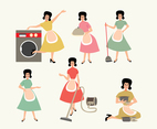 Busy Housewife Vector