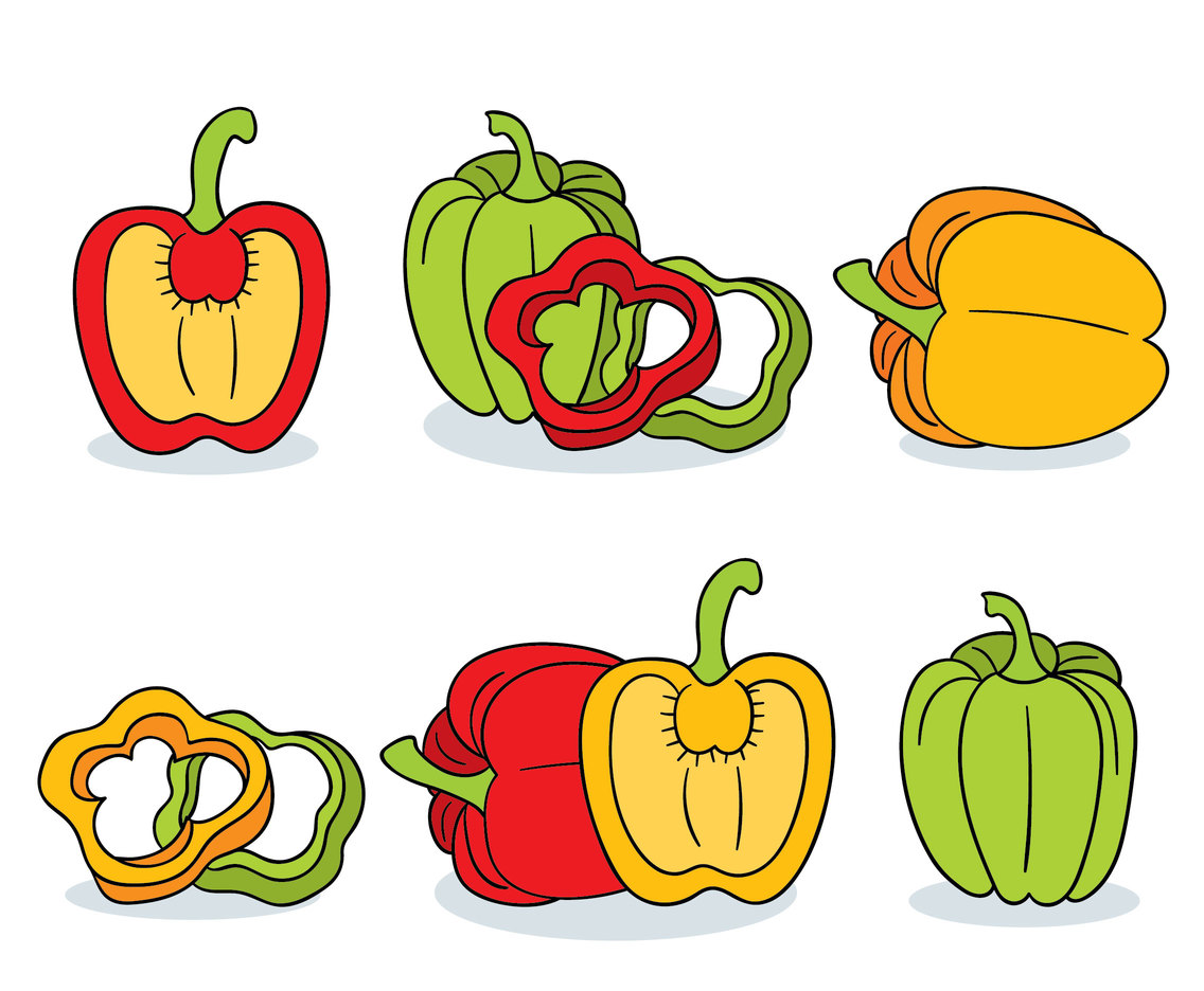 Hand Drawn Paprika Collection Vector