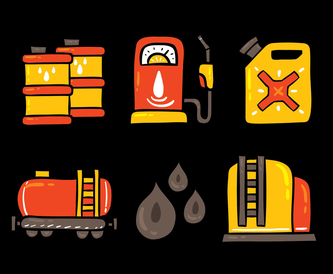 Hand Drawn Petrol Element Vector