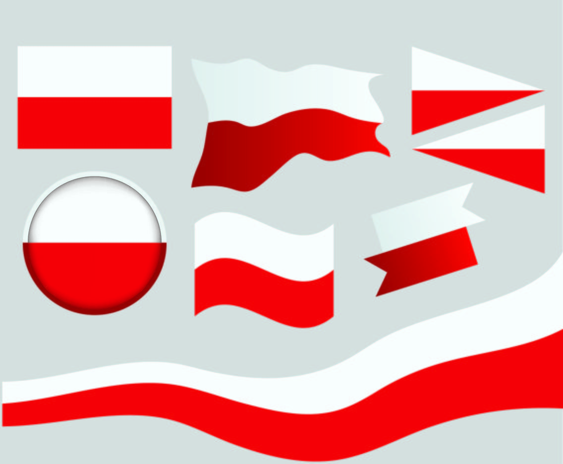 national flag of poland vector art graphics