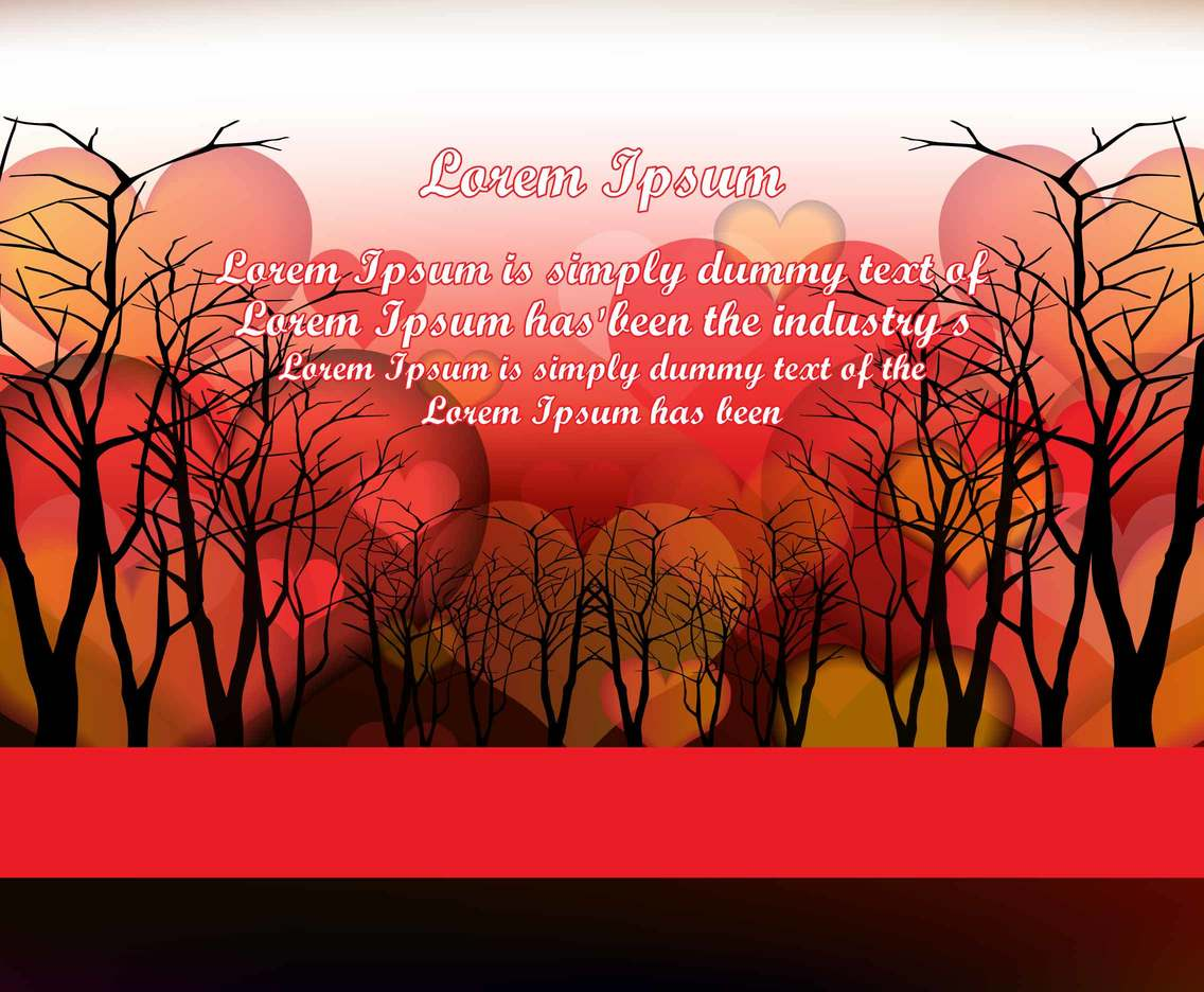 Love Hearts Background Invitation