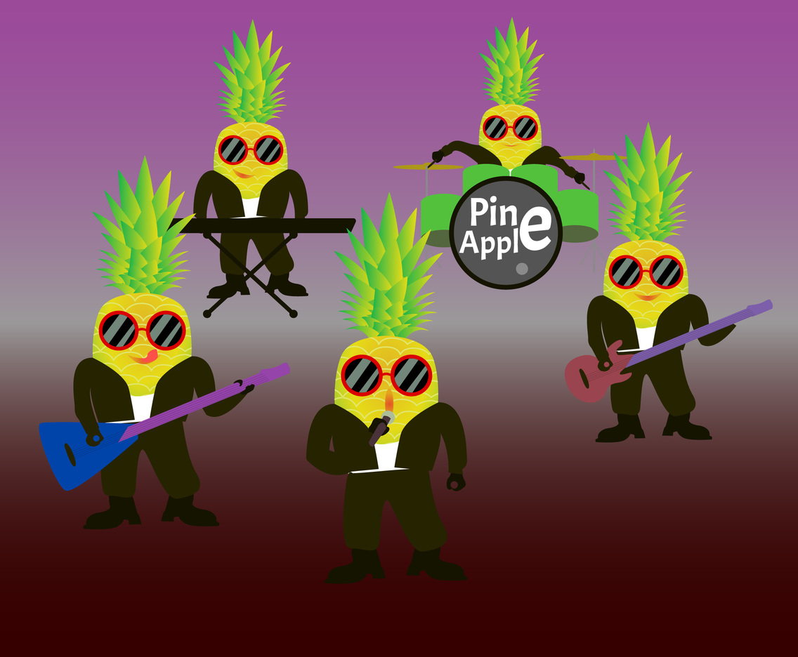 Cartoon Pineapple Band