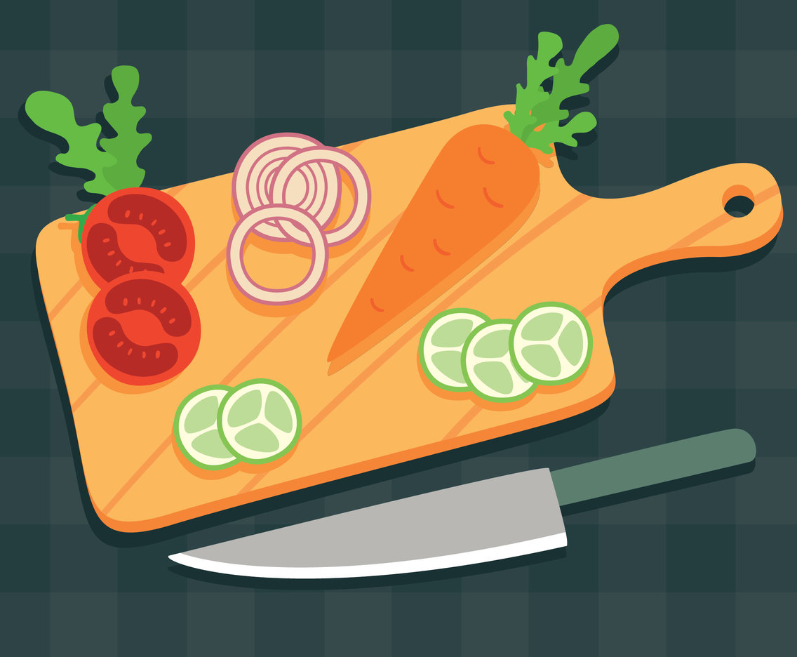 Vegetable Cutting Board Vector