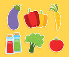 Nice Colored Vegetable Collection Vector