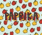 Paprika Pattern Vector