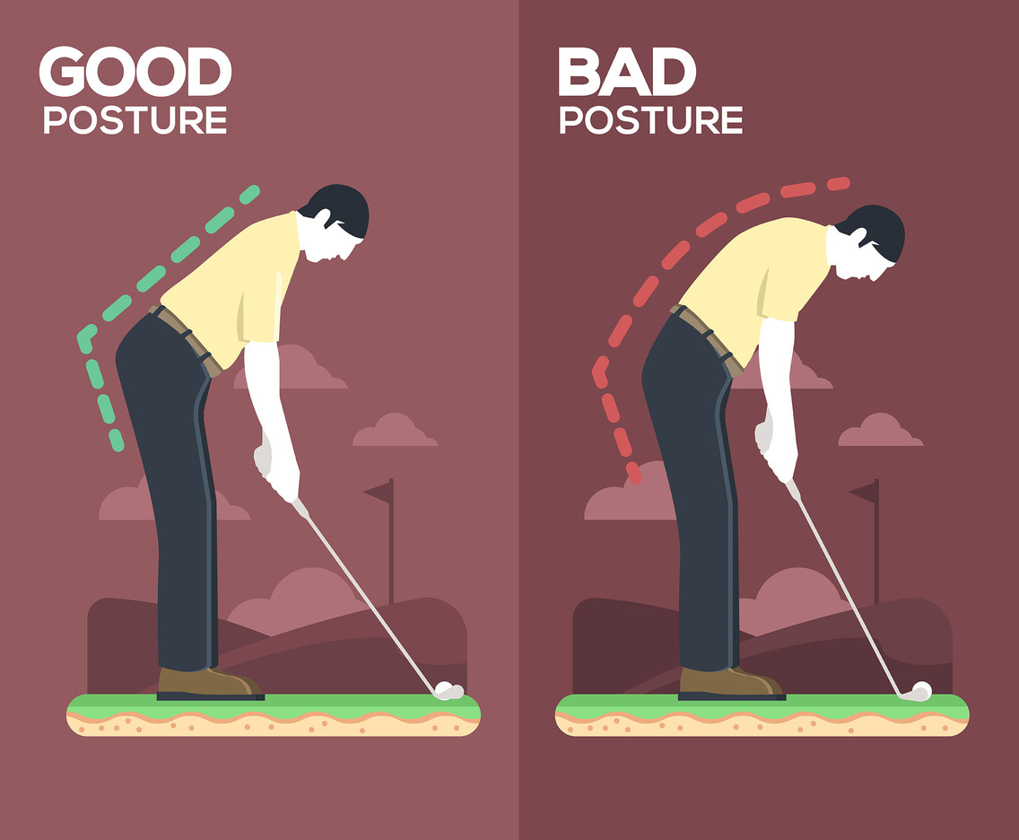 Golf Swing Posture Vector