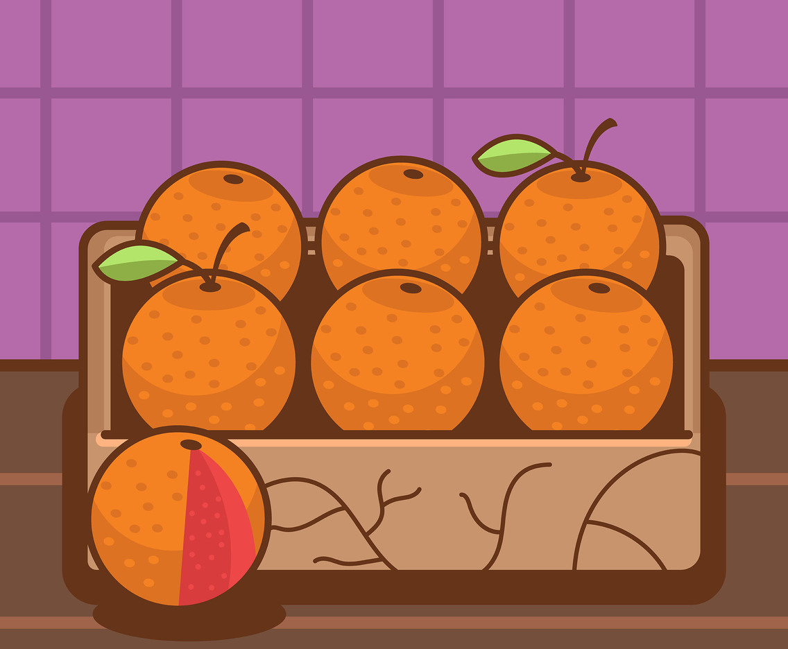 Grapefruit in a Tray Vector