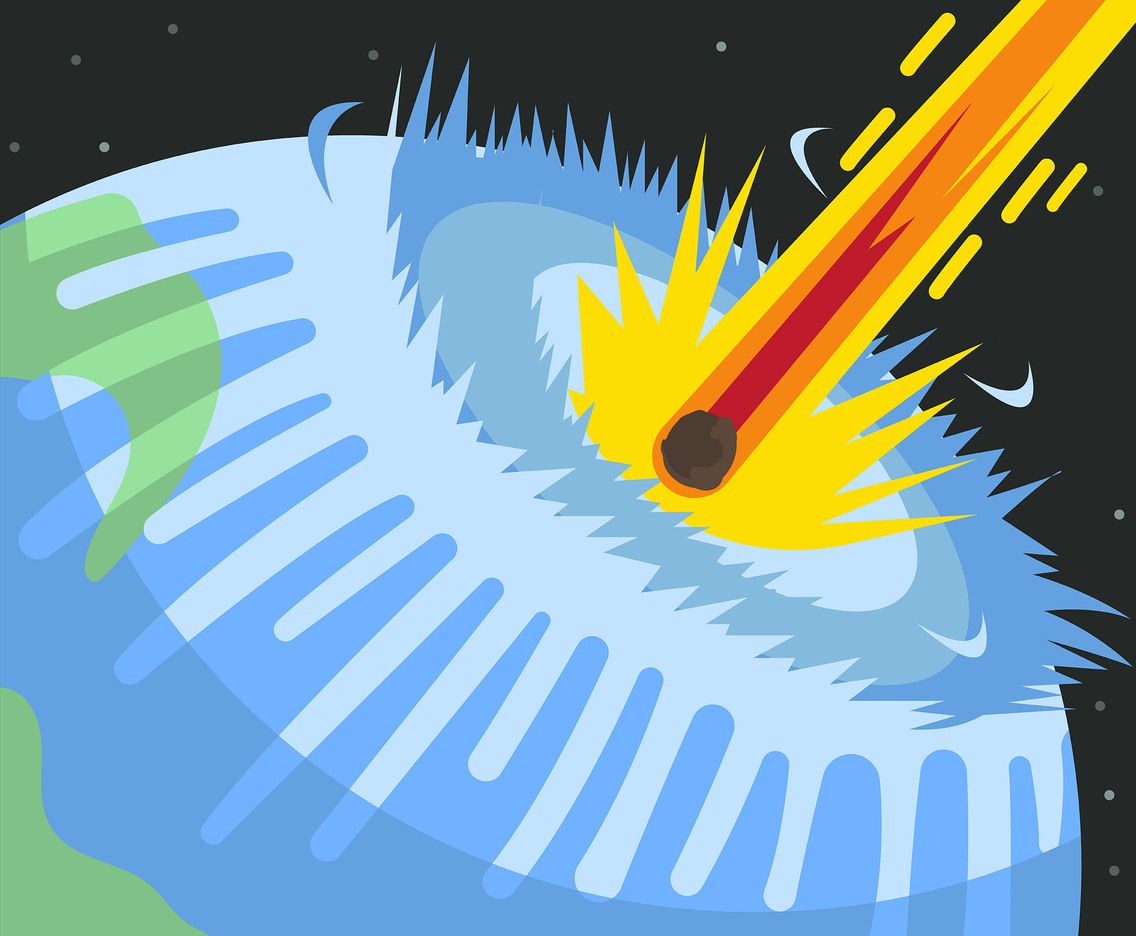 Asteroid Impact Event Vector