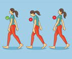 Wrong And Right Walking Posture Vector