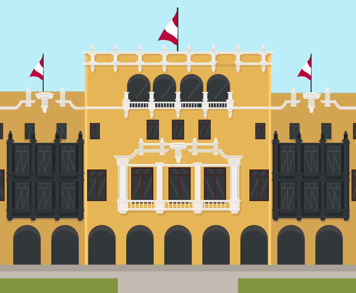 Municipal Palace of Lima Vector
