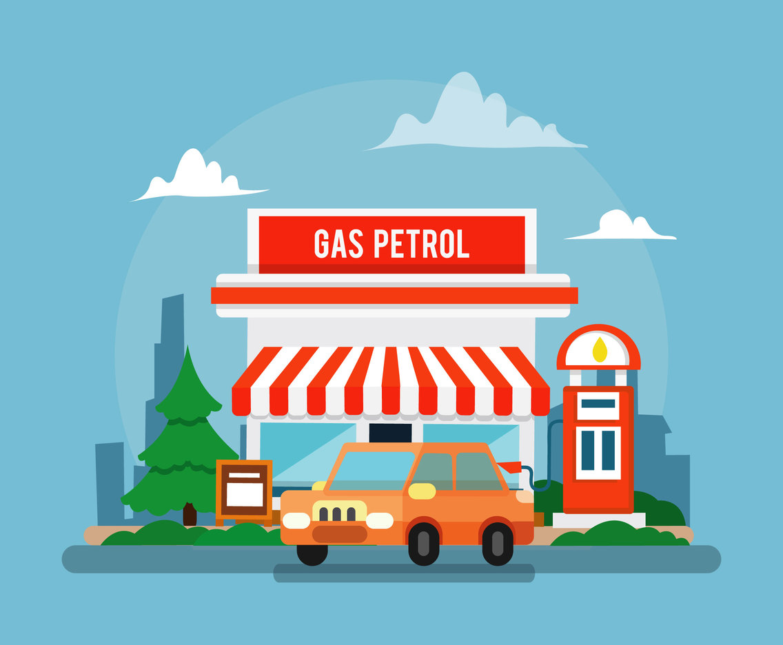 Petrol Station Illustration
