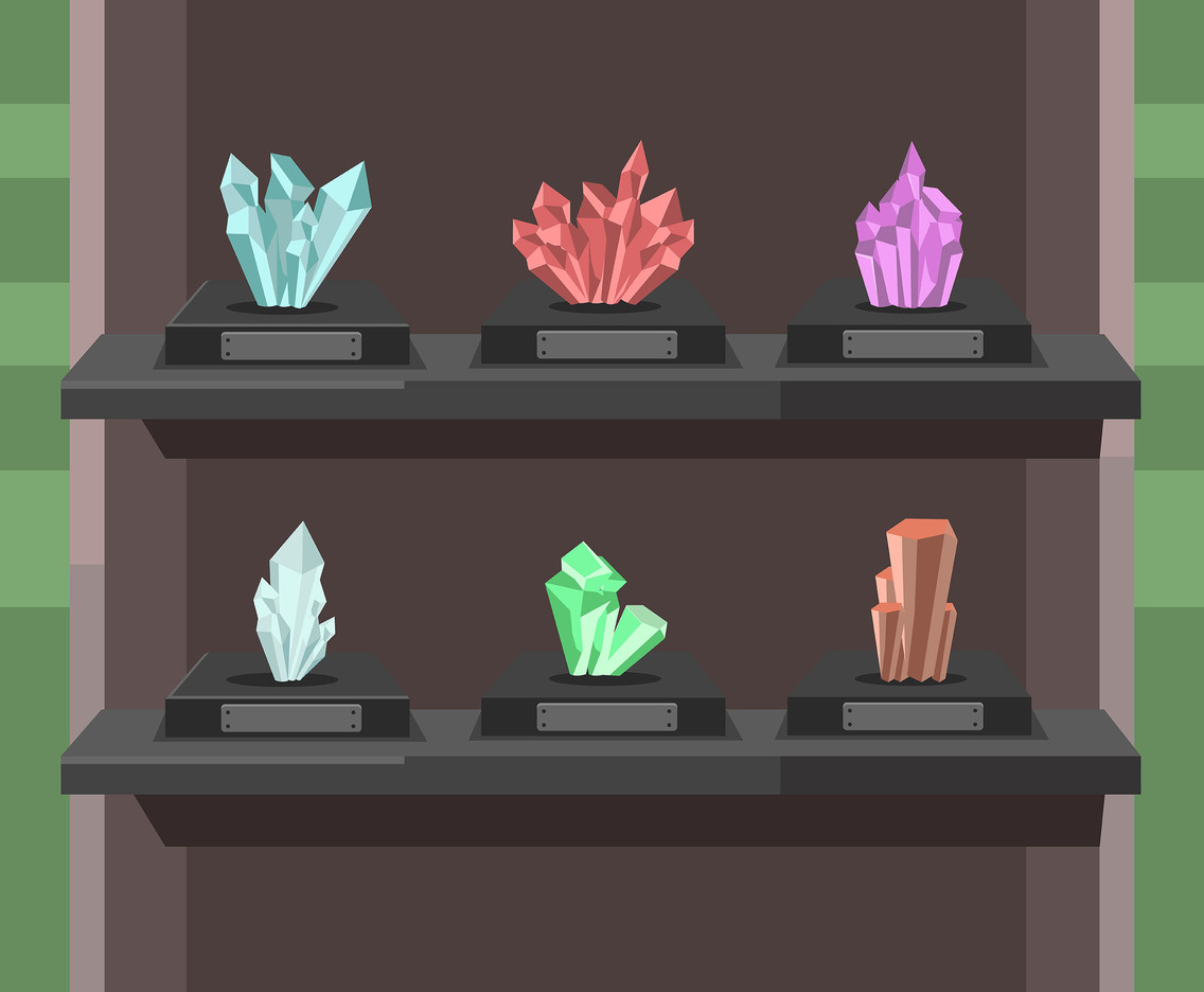Mineral Specimens Vector