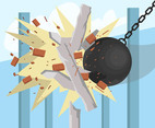 Wrecking Ball Impact Vector