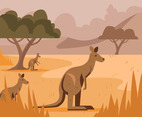 Red Kangaroo Vector