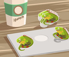 Iguana Sticker Vector