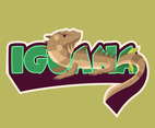 Brown Striped Iguana Vector