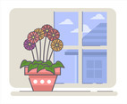 Gerbera in a Pot Vector