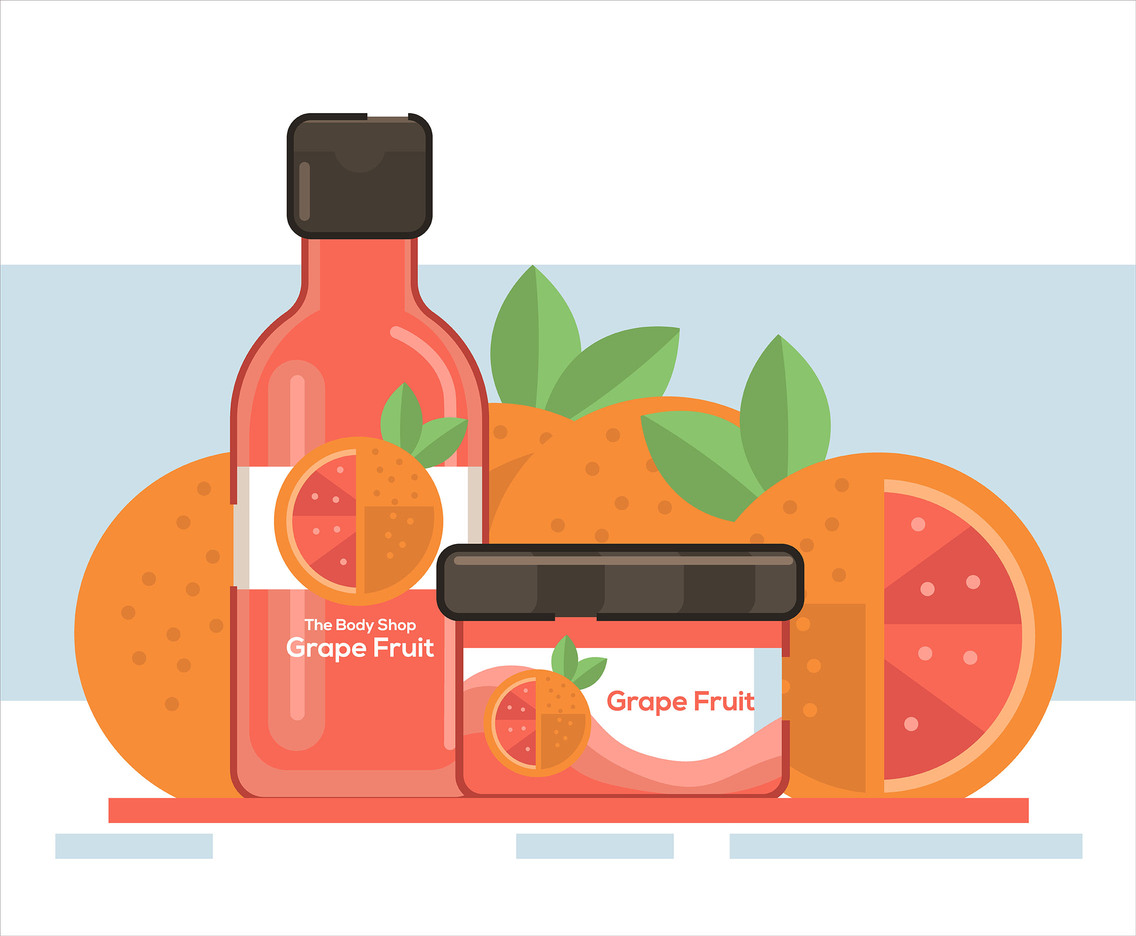 Grapefruit Soap Vector