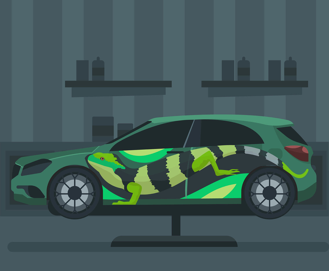Iguana Car Paint Job Vector