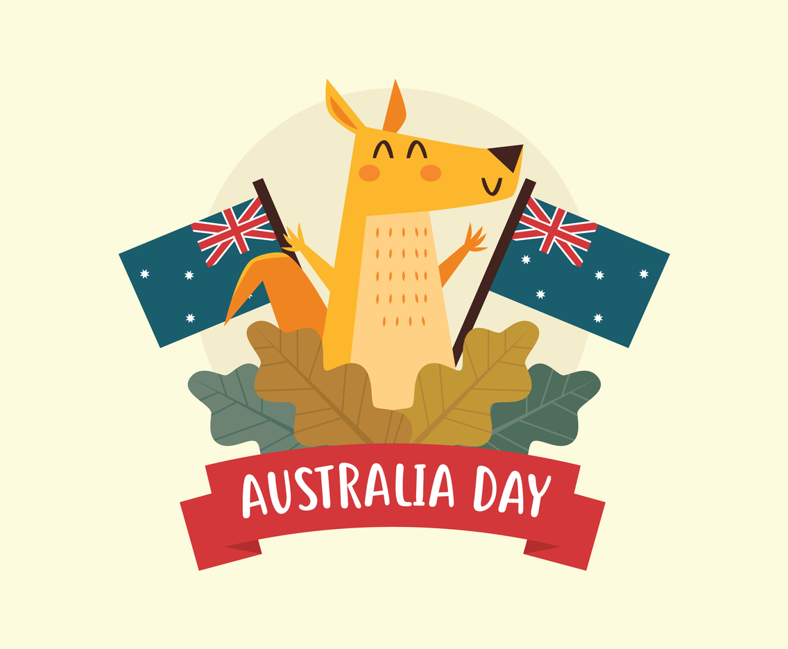 Kangaroo Celebrates Australia Day