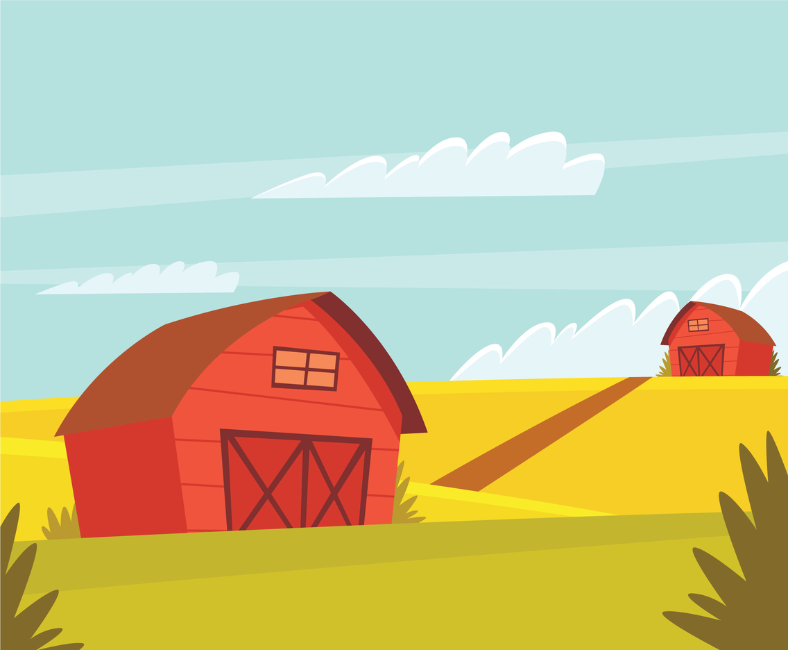 Ranch Farmland Illustration