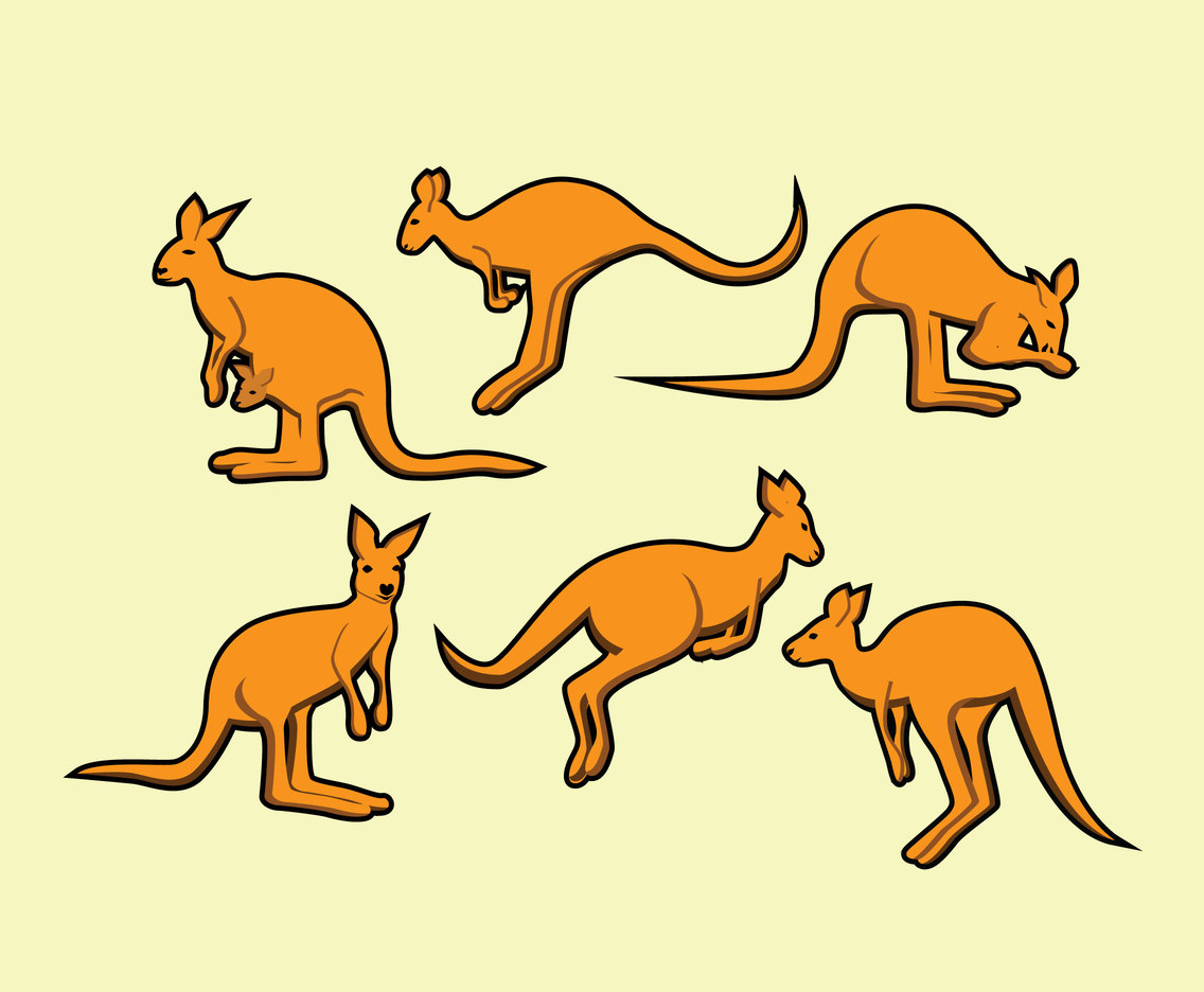 Cartoon Kangaroo Vector