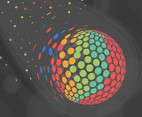 Colorful Particles Vector