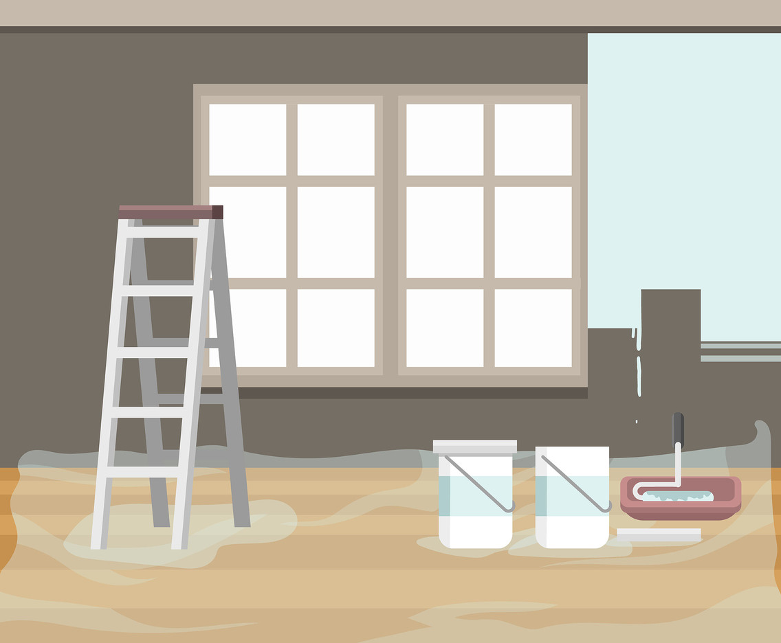 Room Renovation Vector