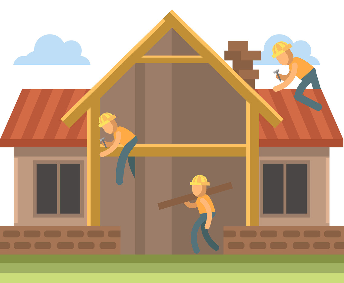 House Renovation Vector