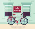 Bike Rental Vector Design