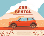 Car Rental Vector Design
