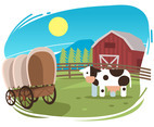 Dairy Cow Ranch Vector