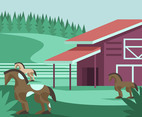 Sorrel Horse Ranch Vector