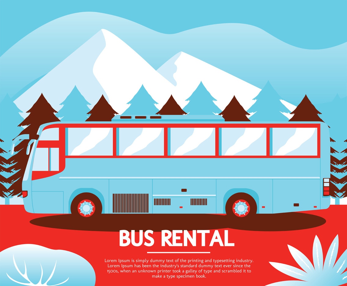 Bus Rental Vector Design