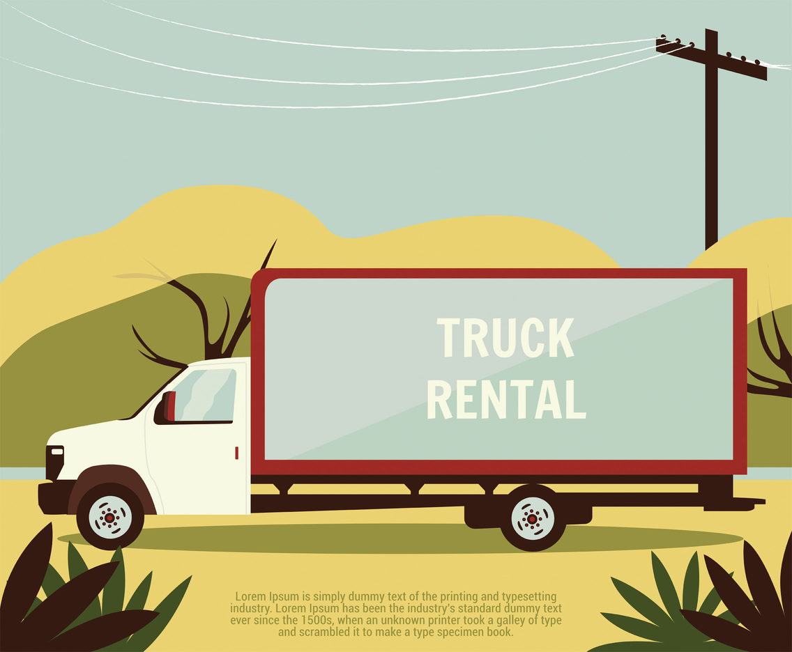 Truck Rental Vector Design