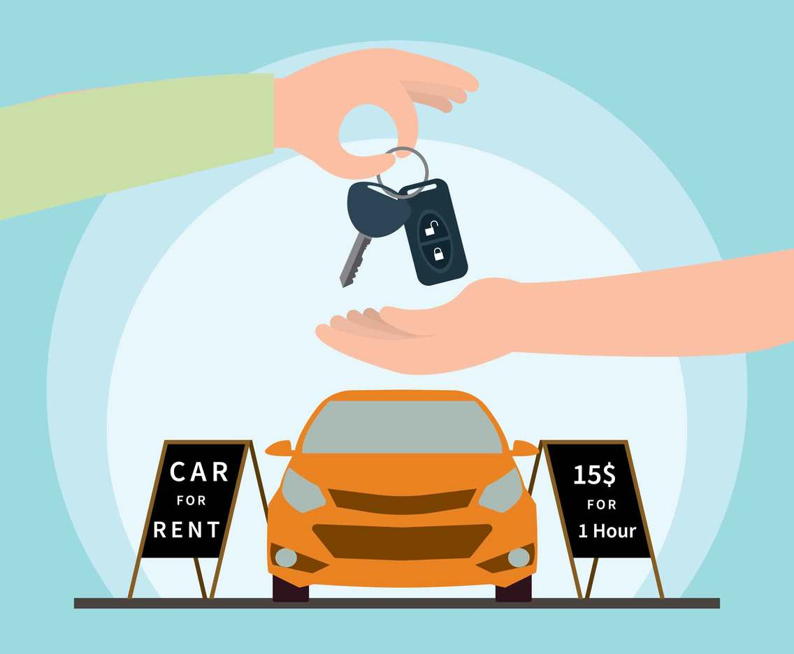 Car rental Illustration