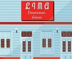 Lima Downtown House Vector Design
