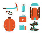 Mountain Rescue Equipments Vector Pack