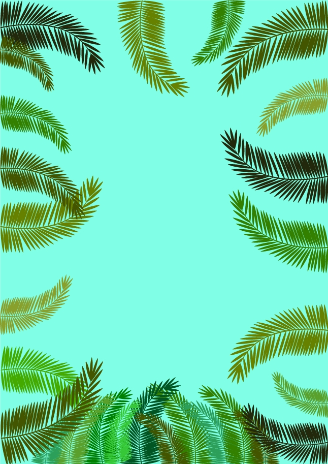 Fern Frame Background Vector