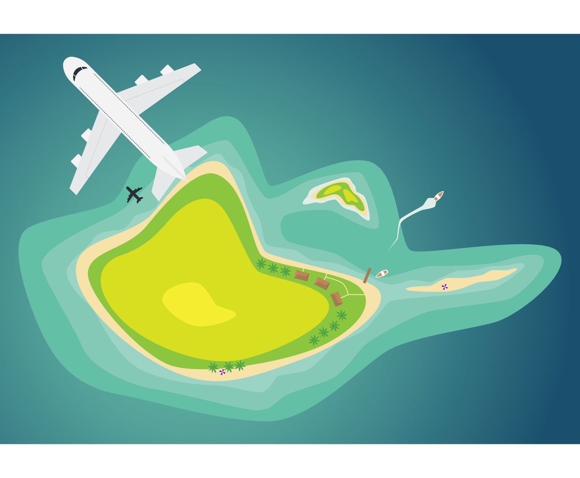 Curvey Island Illustration