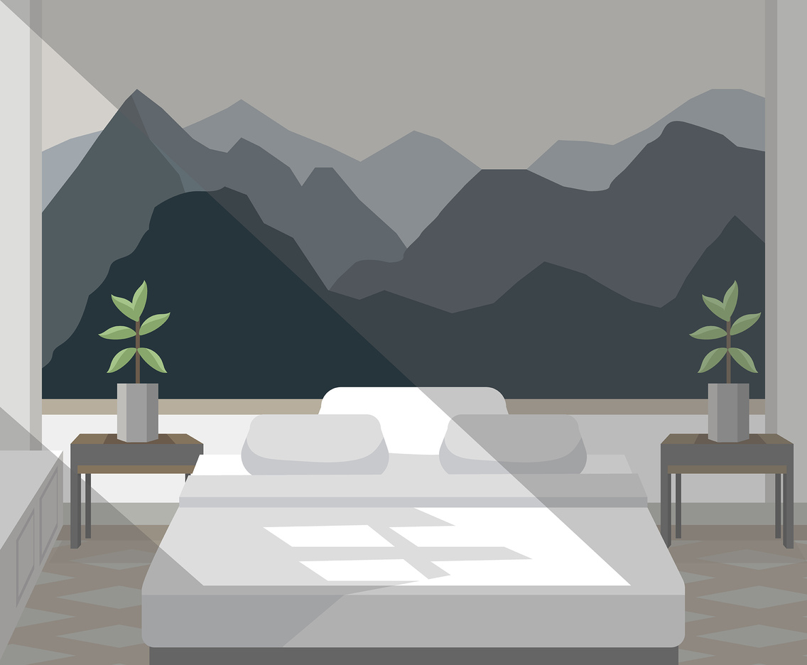 Mountain Wall Art Vector