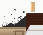 Bird Wall Art Vector