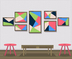 Abstract Painting Wall Art Vector