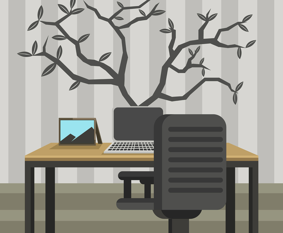 Tree Wall Art Vector